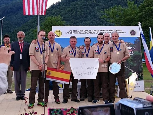 SPAIN WIN THE GOLDEN IN THE WORLD FLY FISHING CHAMPIONSHIP 2015 IN BOSNIA